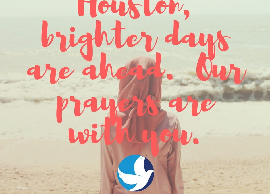 """""""Hurricane Harvey Victims, Our Prayers Are with You"""""""
